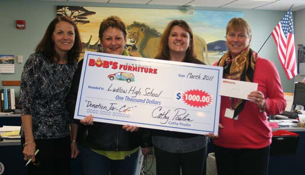 Bob's furniture donates $1,000 to LHS
