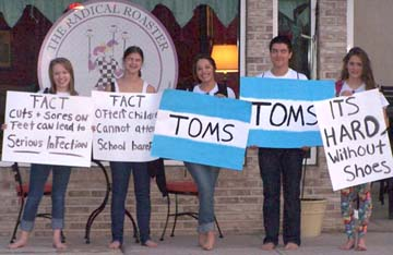 Students raise awareness by going barefoot