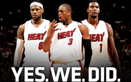 The Big 3: James, Wade, and Bosh lost it all