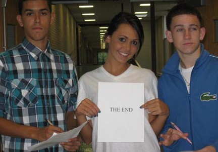 Seniors Greg Santos, Heather Roy, and Greg Cormier start their last year at LHS.