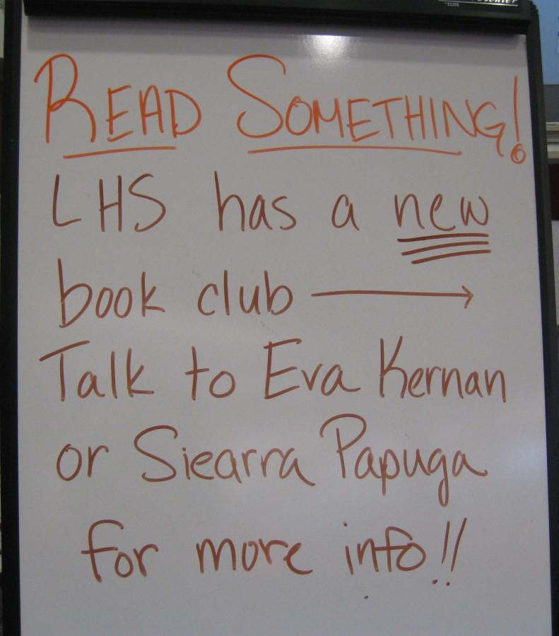 New student-run book club starts at LHS
