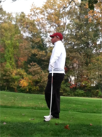 Senior Joe Francisco steps up to the tee