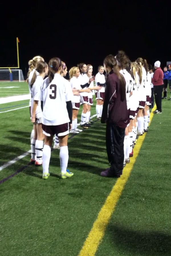 The Lady Lions line up for the starting line-up