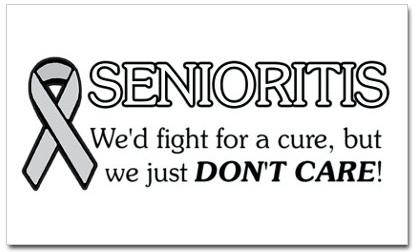 Senioritis; the epidemic that hits Seniors