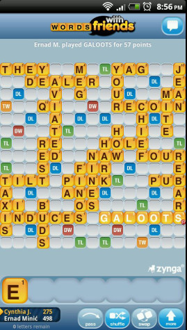 "Students addicted to ""Words with Friends"""