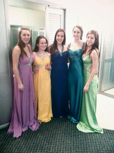 LHS girls shop for prom dresses