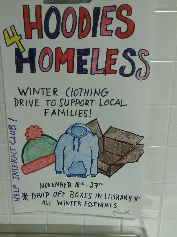Helping those in need with Hoodies for the Homeless fundraiser