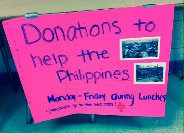 Interact Club collects money for Philippines