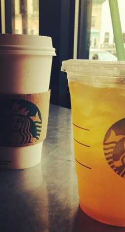 Starbucks drinks.