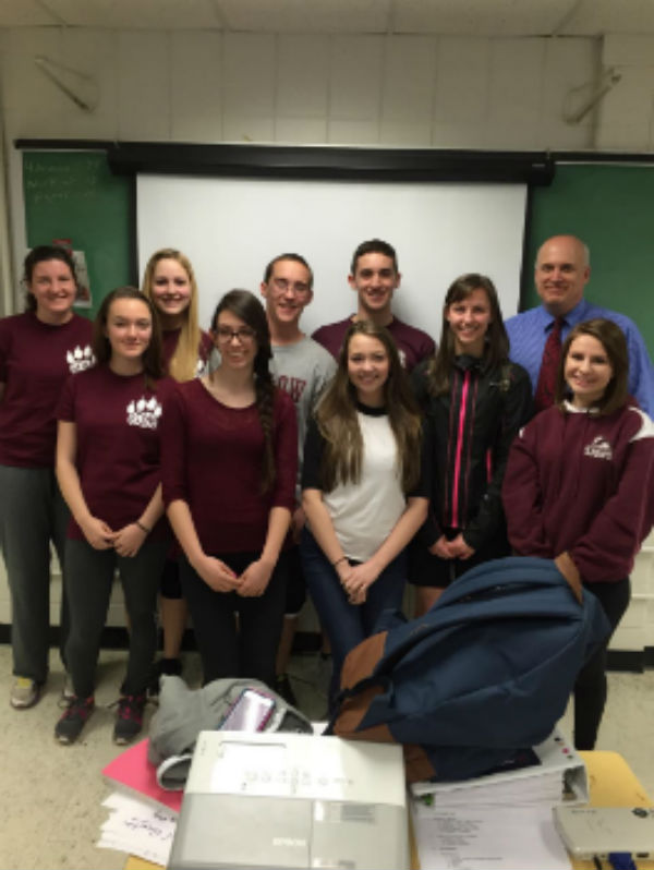 Senior members of the LHS student council with club adviser,Mr. Bylicki.