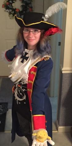 Saccamando dressed as Prussia from Hetalia