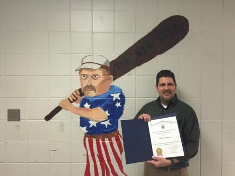 History teacher awarded National Citizenship Education Teacher Post Recognition Award
