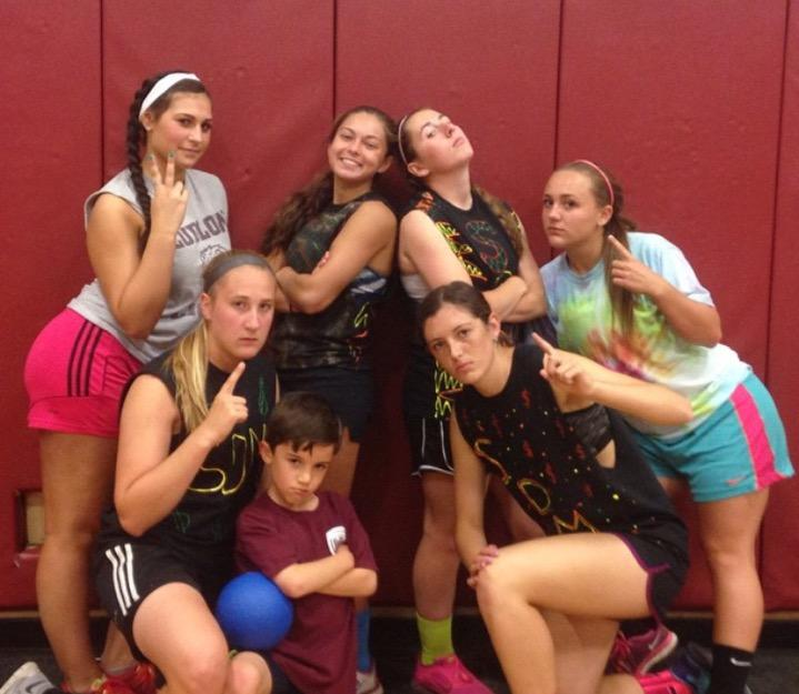 The Slum Dodge Millionaires, a team from dodgeball marathon 2015, posing for a photo.