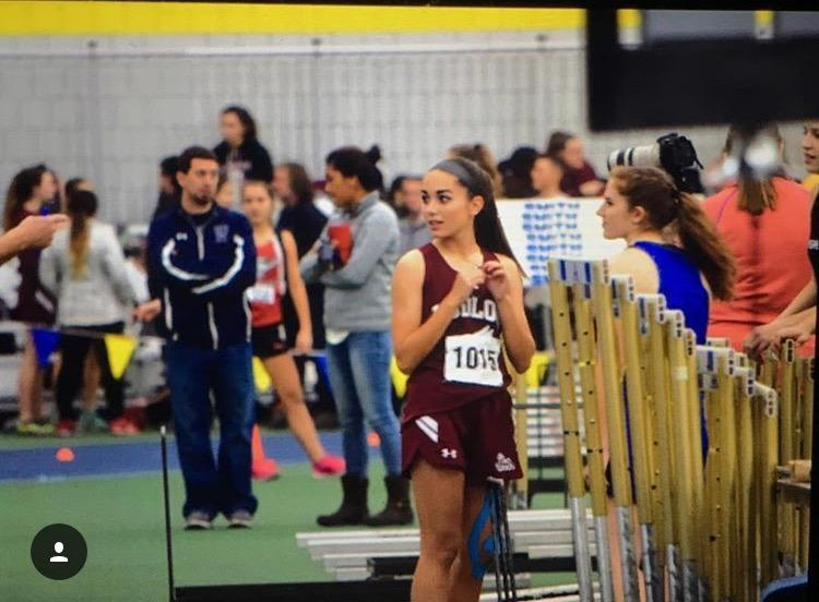 Catarina Ferreira Breaks School Record in Indoor Track