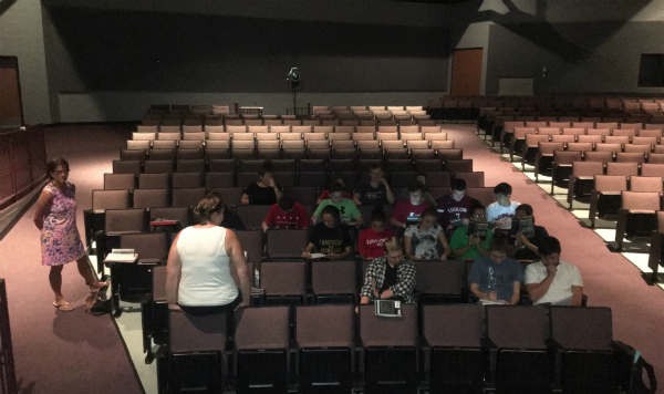 Some teachers moved classes to the air conditioned auditorium Monday and Tuesday due to high temperatures in the building.