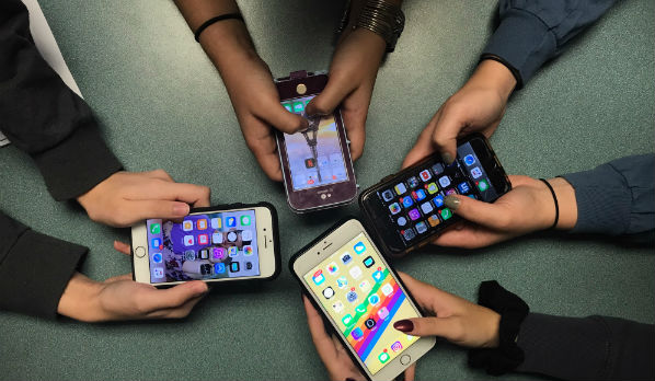 Teens obsessed with social media
