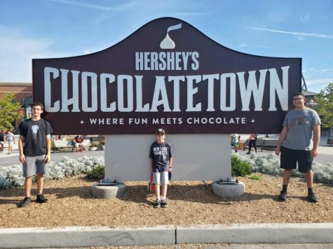 A sign just outside Hersheypark